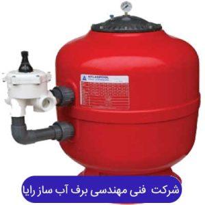 فیلتر شنی بدنه پلی اتیلنی همراه با شیر 6راهی ATS PLS 0620